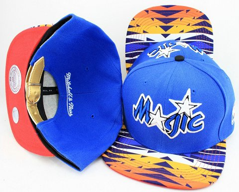 Orlando Magic Navajo Retro Bill Gold Leather Strap Back Hat JT01