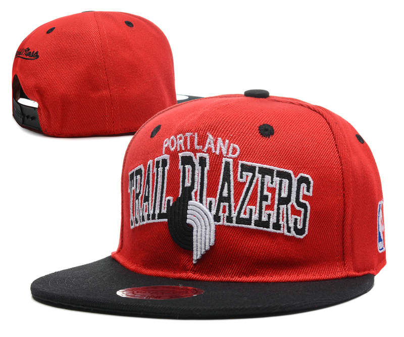 Portland Trail Blazers Red Snapback Hat DF 0512