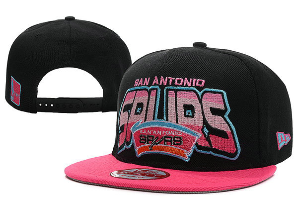 San Antonio Spurs Black Snapback Hat XDF 1
