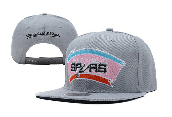 San Antonio Spurs Grey Snapback Hat XDF