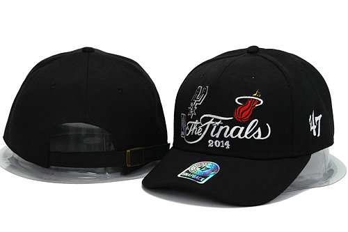 Miami Heat and San Antonio Spurs The Finals Black Snapback Hat YS 0701