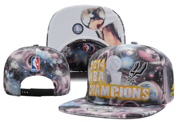 San Antonio Spurs adidas 2014 NBA Finals Champions Locker Room Snapback Galaxy Hat XDF 0701