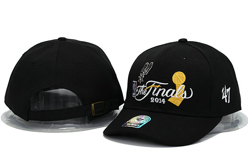 San Antonio Spurs The Finals Black Snapback Hat YS 0701