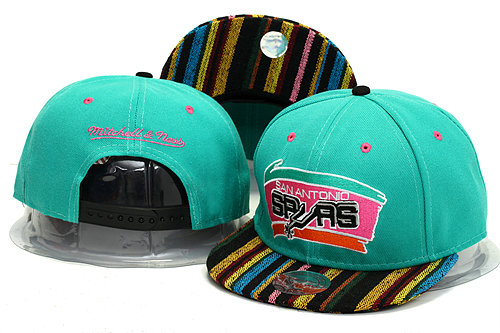 San Antonio Spurs Green Snapback Hat YS 0613