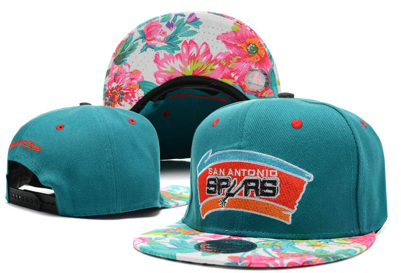 San Antonio Spurs Green Snapback Hat DF 0721