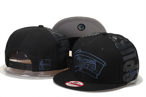 San Antonio Spurs Snapback Black Hat GS 0620