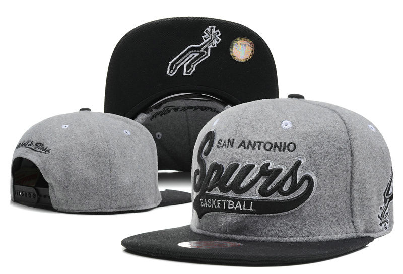 San Antonio Spurs Grey Snapback Hat DF 0512
