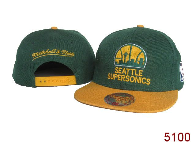 Seattle SpuerSonics Snapback Hat SG 3853