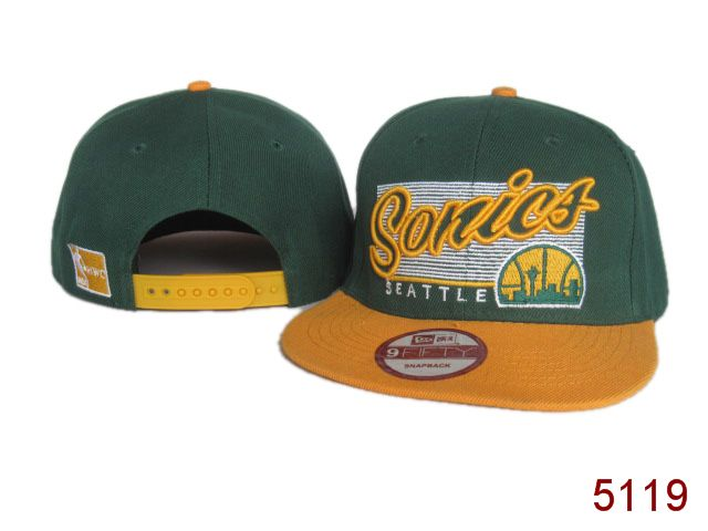 Seattle SpuerSonics Snapback Hat SG 3863