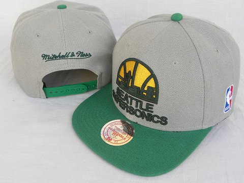Seattle Sonics Mitchell&Ness Snapback Hat DD 0002