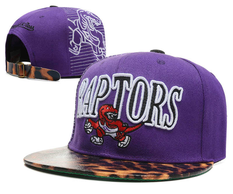 Toronto Raptors Purple Snapback Hat DF 0512