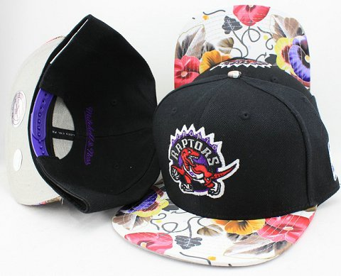 Toronto Raptors Flower Bill Snapback Hat JT03
