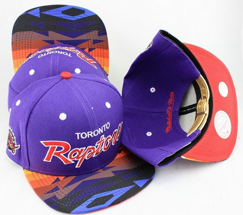 Toronto Raptors Navajo Retro Bill Gold Leather Strap Back Hat JT19