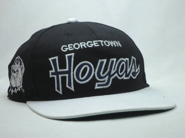 Georgetown Hoyas Black Snapbacks Hat SF