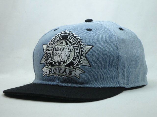 Georgetown Hoyas Grey Snapbacks Hat SF