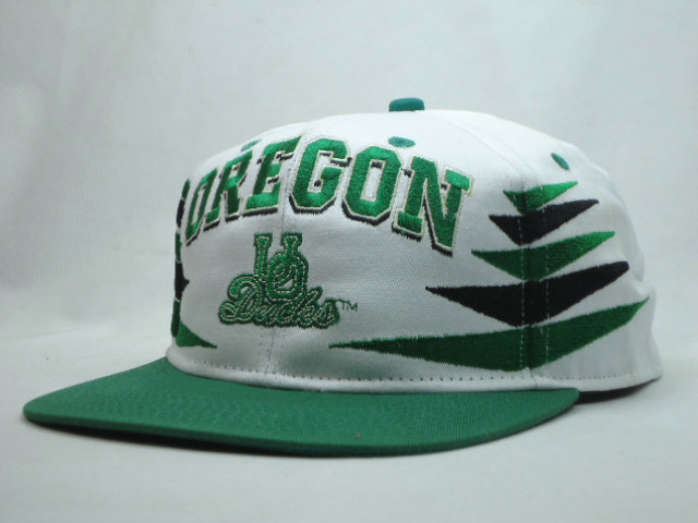 Oregon Ducks White Snapbacks Hat SF
