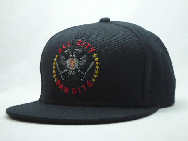 Quad City River Bandits Black Snapbacks Hat SF
