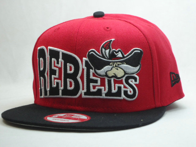 REBELS Red Snapbacks Hat SF 1