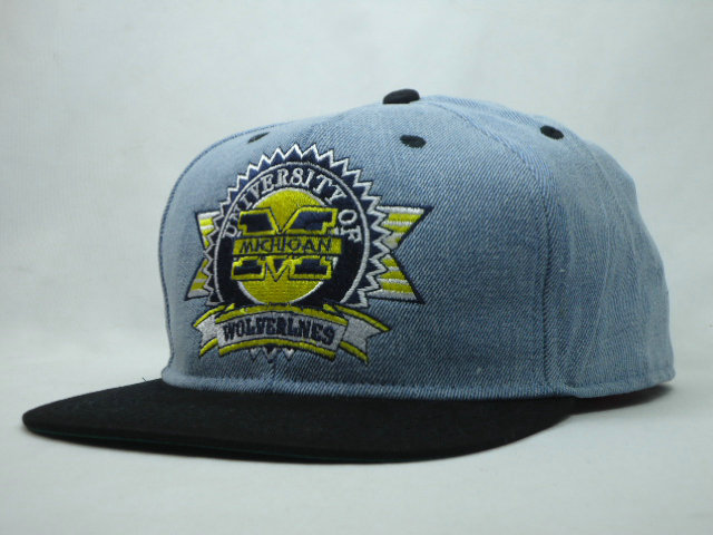 University of Michigan Grey Snapbacks Hat SF