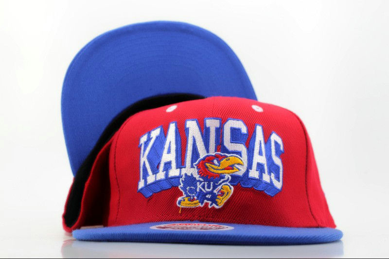 Kansas Pine Hawks Red Snapback Hat QH