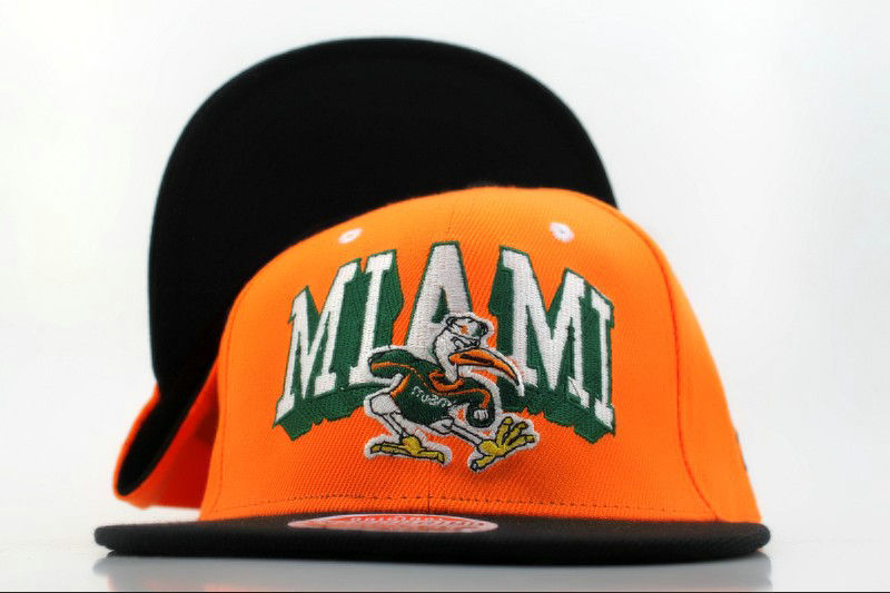 Miami Hurricanes Orange Snapback Hat QH