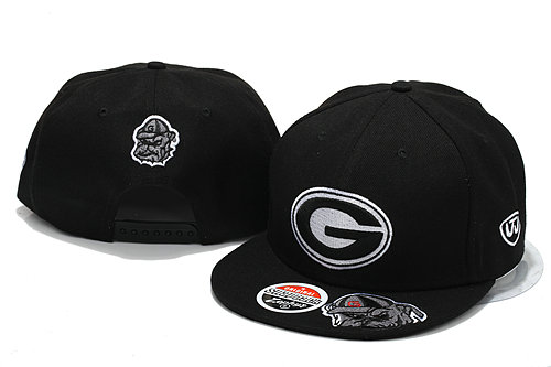 NCAA Black Snapback Hat YS 7