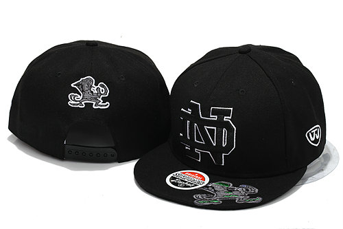 NCAA Black Snapback Hat YS 8