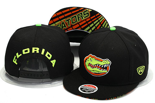 Florida Gators Black Snapback Hat YS 0528