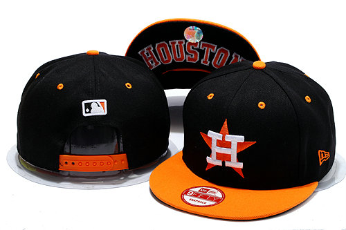 Houston Astros Black Snapback Hat YS 0528