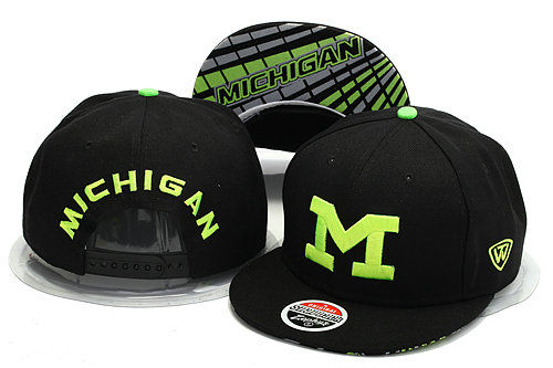 Michigan Wolverines Black Snapback Hat YS 0528