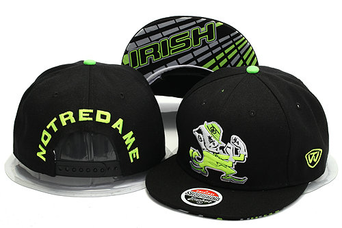 Notre Dame Fighting Irish Black Snapback Hat YS 0528