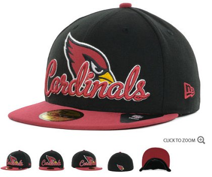 Arizona Cardinals New Era Script Down 59FIFTY Hat 60d02