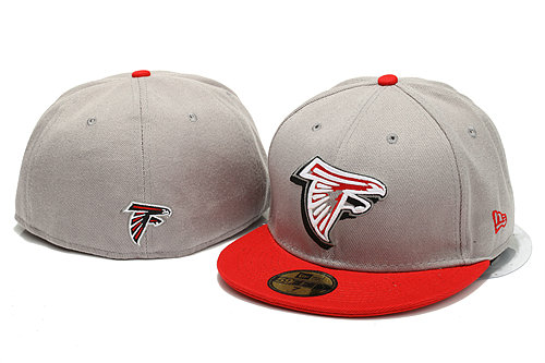 Atlanta Falcons Grey Fitted Hat YS