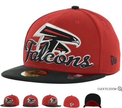 Atlanta Falcons New Era Script Down 59FIFTY Hat 60d03