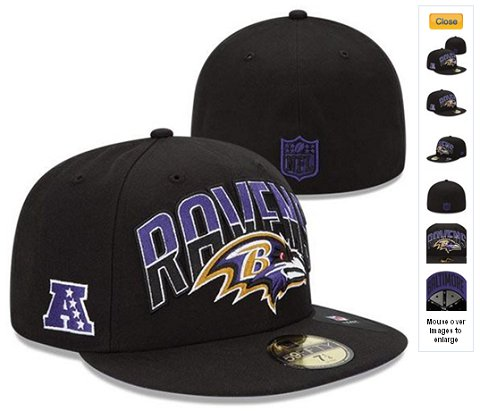 2013 Baltimore Ravens NFL Draft 59FIFTY Fitted Hat 60D21