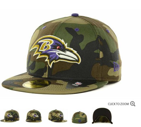 Baltimore Ravens New Era NFL Camo Pop 59FIFTY Hat 60D1