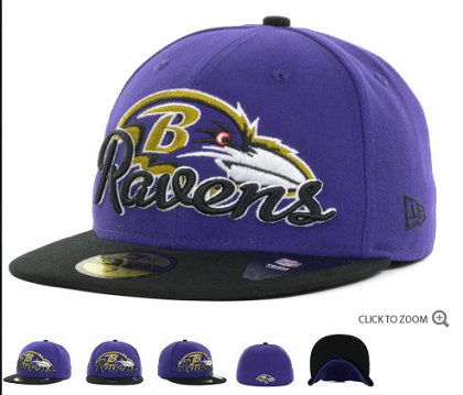 Baltimore Ravens New Era Script Down 59FIFTY Hat 60d04