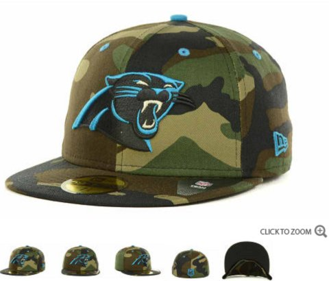 Carolina Panthers New Era NFL Camo Pop 59FIFTY Hat 60D6