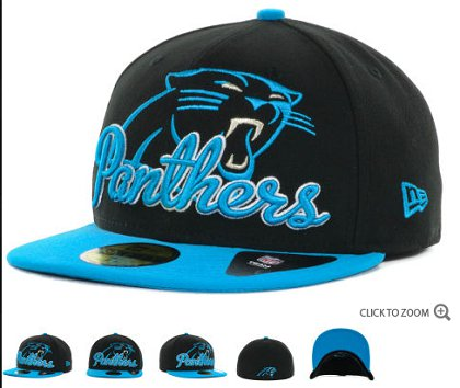 Carolina Panthers New Era Script Down 59FIFTY Hat 60d05