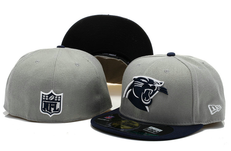 Carolina Panthers Grey Fitted Hat 60D 0721