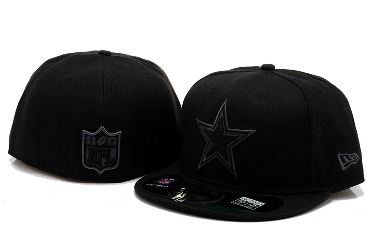 Dallas Cowboys Black Fitted Hat 60D 0721