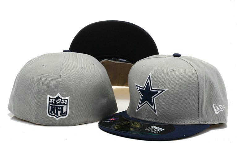 Dallas Cowboys Grey Fitted Hat 60D 0721