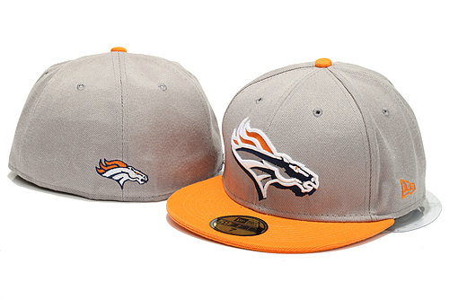 Denver Broncos Grey Fitted Hat YS