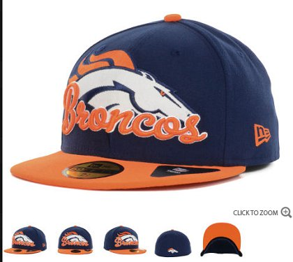 Denver Broncos New Era Script Down 59FIFTY Hat 60d07