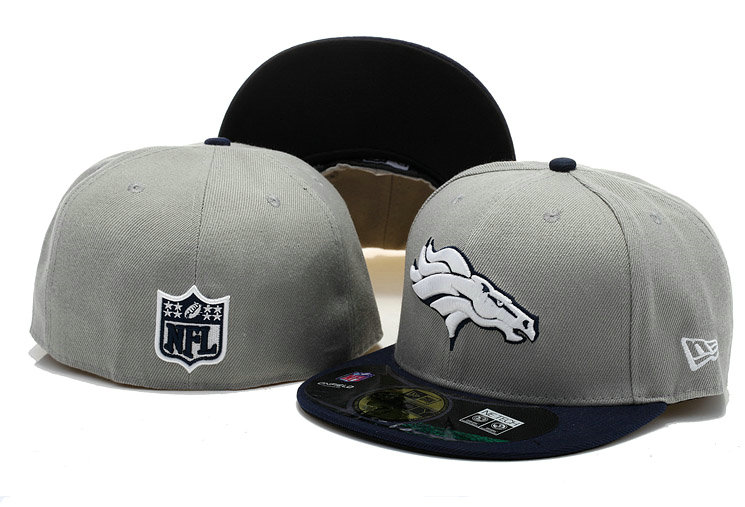 Denver Broncos Grey Fitted Hat 60D 0721