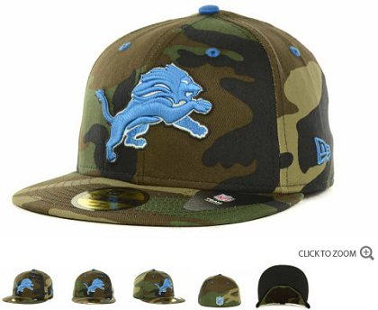 Detroit Lions NFL Fitted Hat 60d