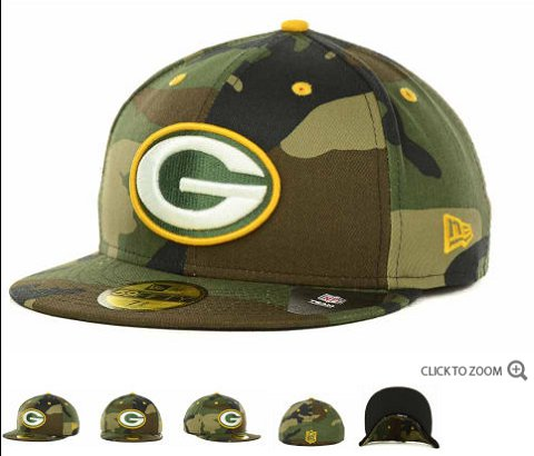 Green Bay Packers New Era NFL Camo Pop 59FIFTY Hat 60D2