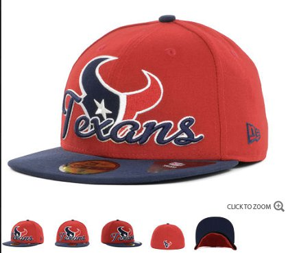 Houston Texans New Era Script Down 59FIFTY Hat 60d10