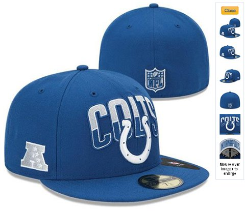 2013 Indianapolis Colts NFL Draft 59FIFTY Fitted Hat 60D07