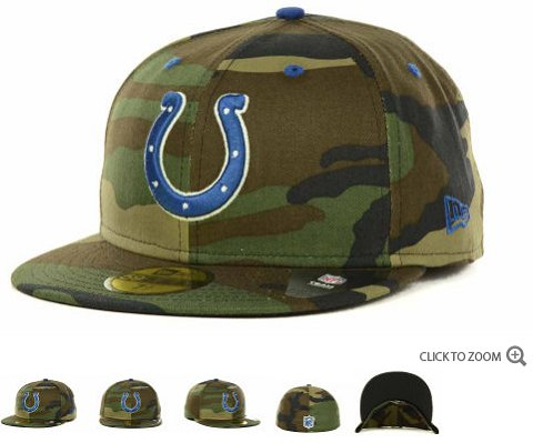 Indianapolis Colts New Era NFL Camo Pop 59FIFTY Hat 60D9